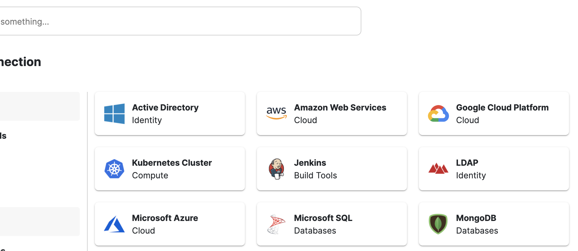 Click on the AWS tile to get started.