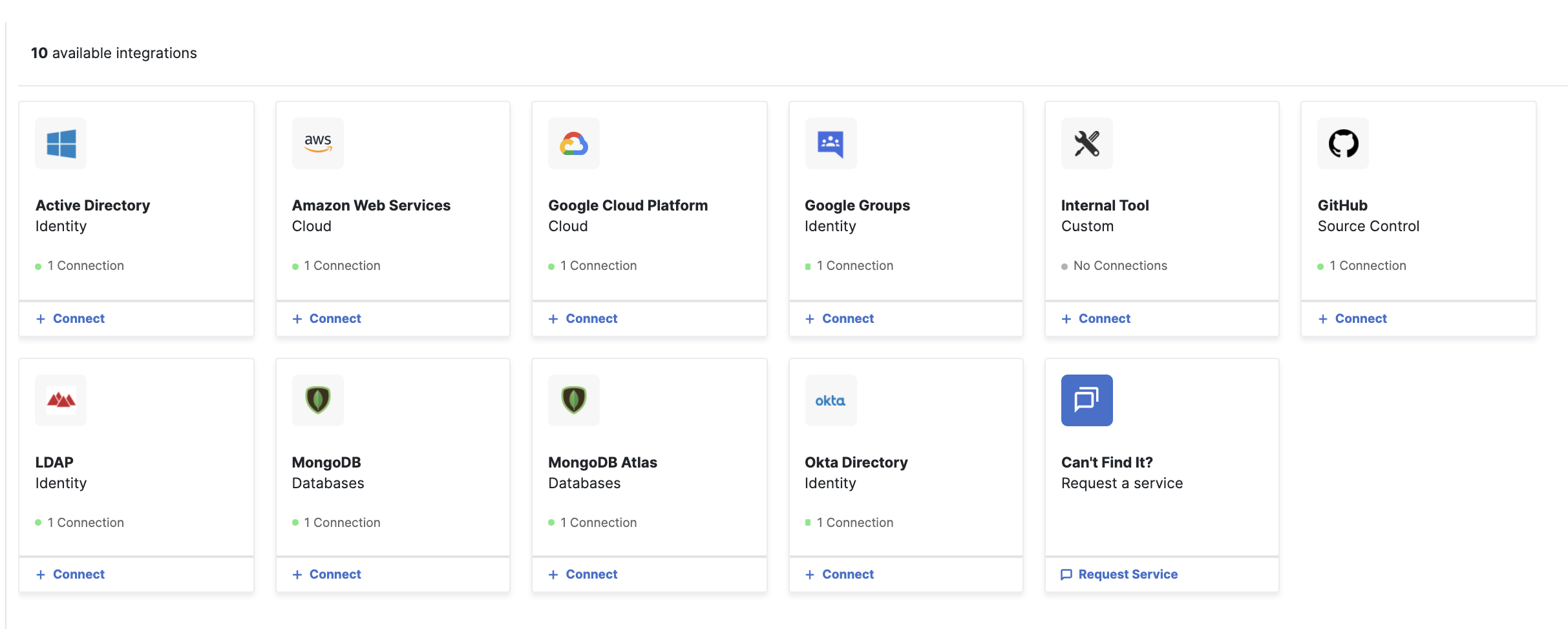 Click on the MongoDB Atlas tile to get started